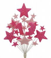 Number age 13th birthday cake topper decoration in shades of pink - free postage